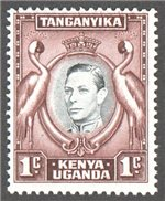 Kenya, Uganda and Tanganyika Scott 66a Mint
